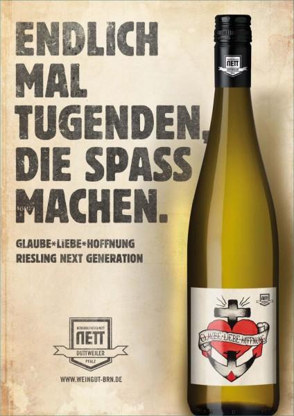 "Bergdolt-Reif & Nett - ""Glaube-Liebe-Hoffnung"" Riesling Creation trocken"